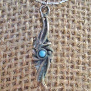 Jewelry - GREEK Ethnic SILVER BLUE Pendant NECKLACE CHOKER